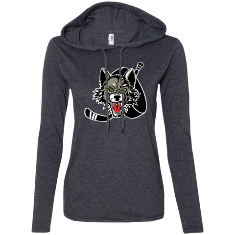 Chicago Wolves Ladies Long Sleeve T-Shirt Hoodie
