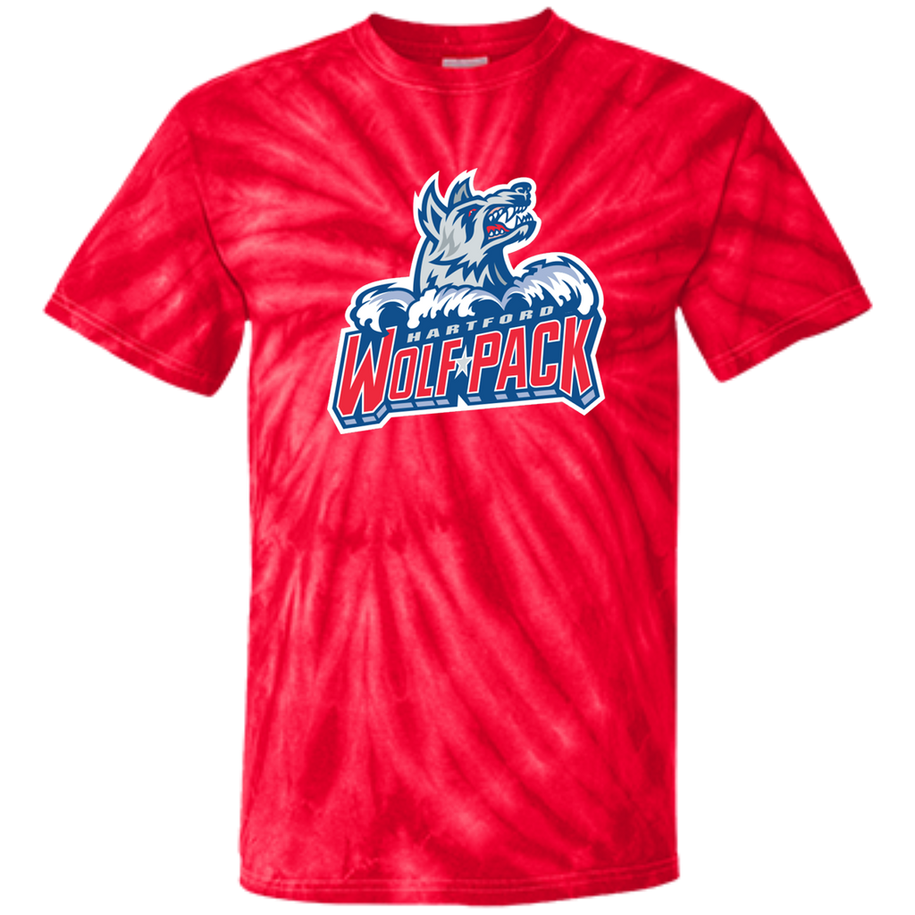 Hartford Wolf Pack Primary Logo Youth Tie Dye T-Shirt