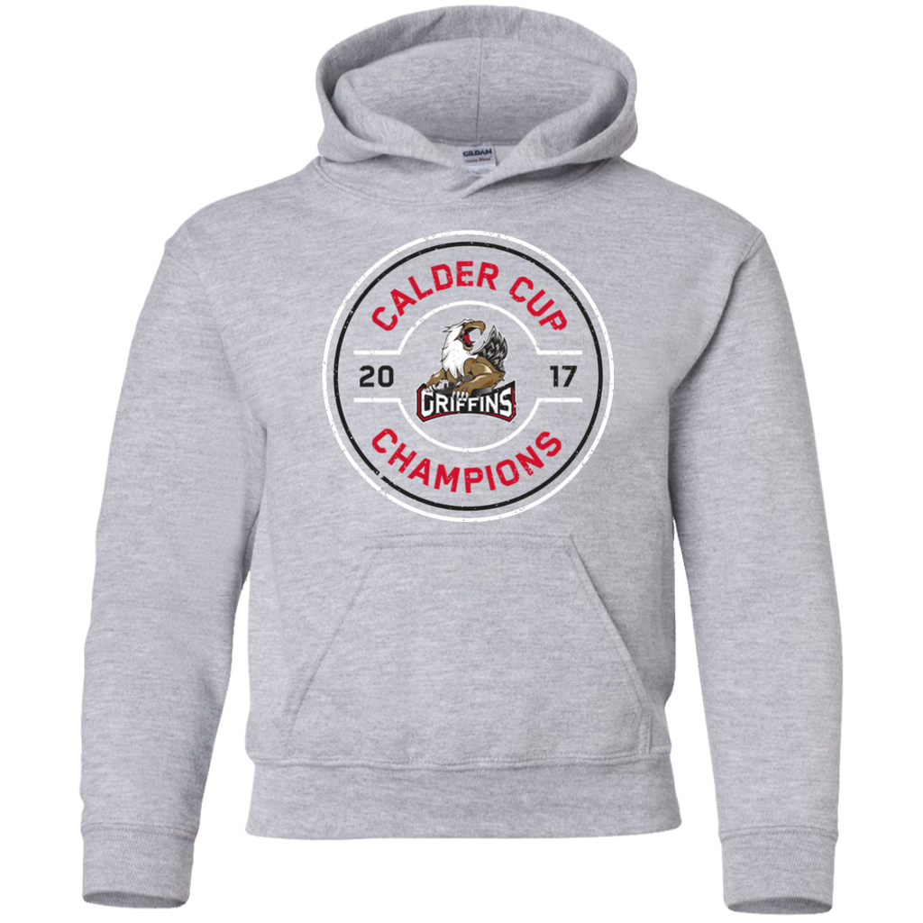 Grand Rapids Griffins 2017 Calder Cup Champions Faceoff Youth Pullover Hoodie