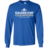 Toronto Marlies 2018 Calder Cup Champions Adult Crown Long Sleeve Cotton T-Shirt