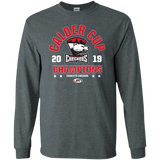 Charlotte Checkers 2019 Calder Cup Champions Long Sleeve Adult Arch  Cotton T-Shirt