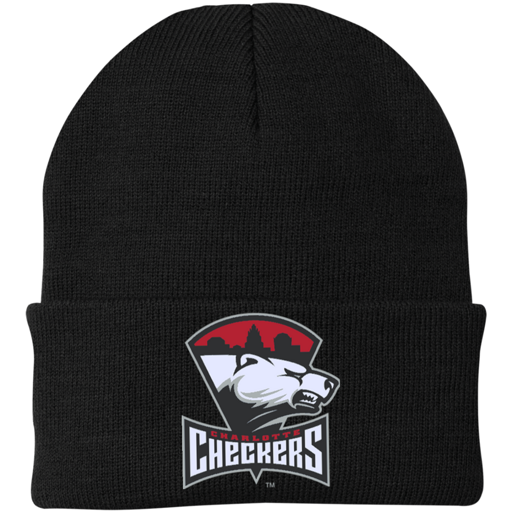 Charlotte Checkers Knit Cap