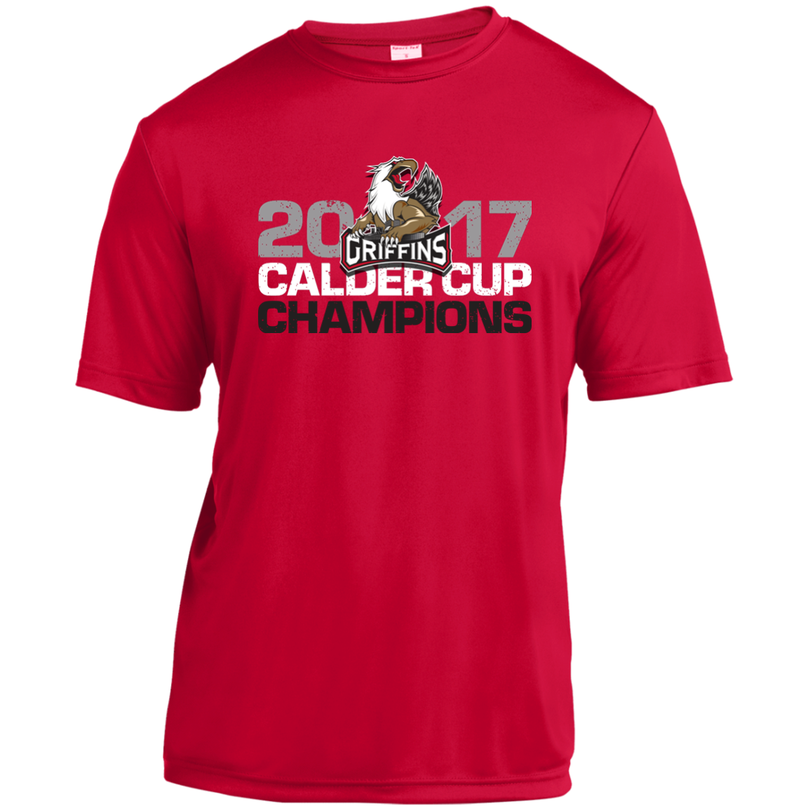 bc833b6a5 Grand Rapids Griffins 2017 Calder Cup Champions Distressed Short Sleev –  ahlstore.com