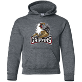 Grand Rapids Griffins Primary Logo Youth Pullover Hoodie