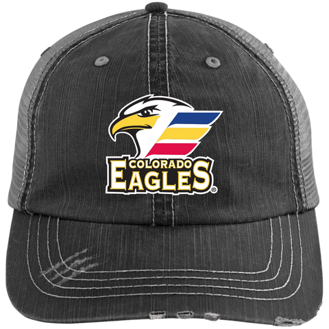 Colorado Eagles Distressed Unstructured Trucker Cap