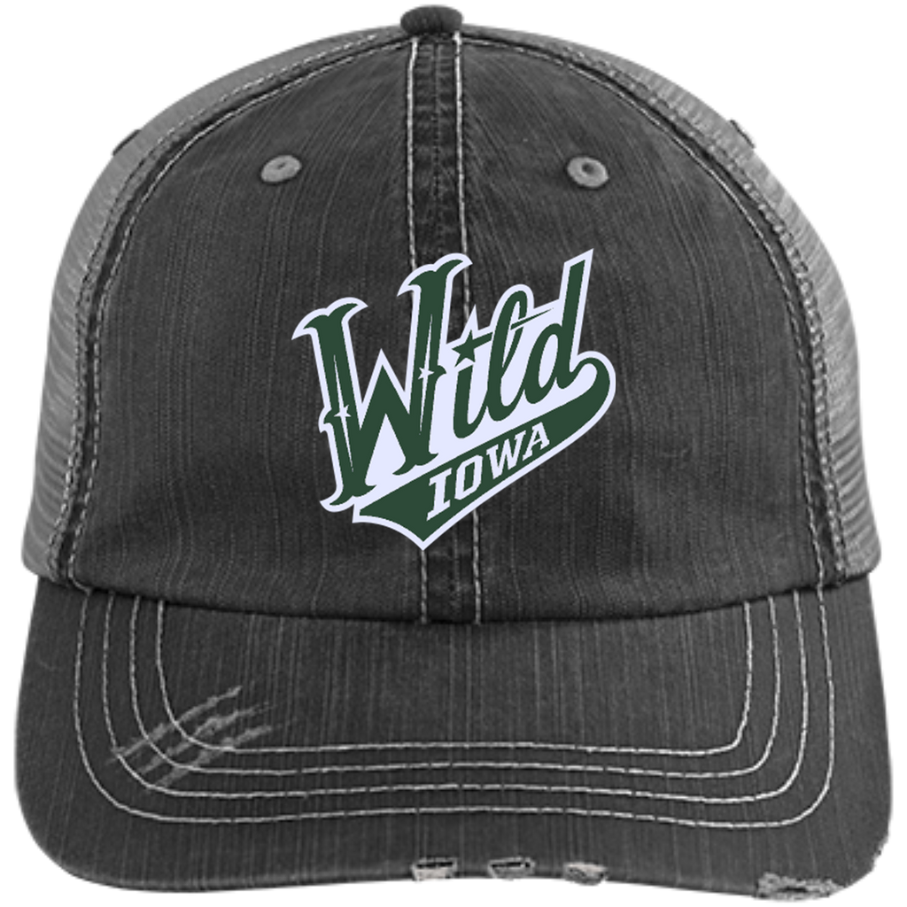 Iowa Wild Distressed Unstructured Trucker Cap