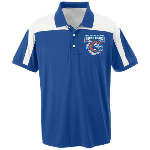 Bridgeport Sound Tigers Team 365 Colorblock Polo