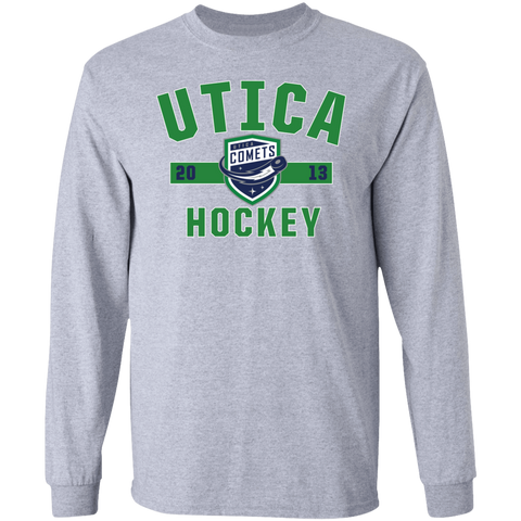 Utica Comets Adult Established Long Sleeve Cotton T-Shirt