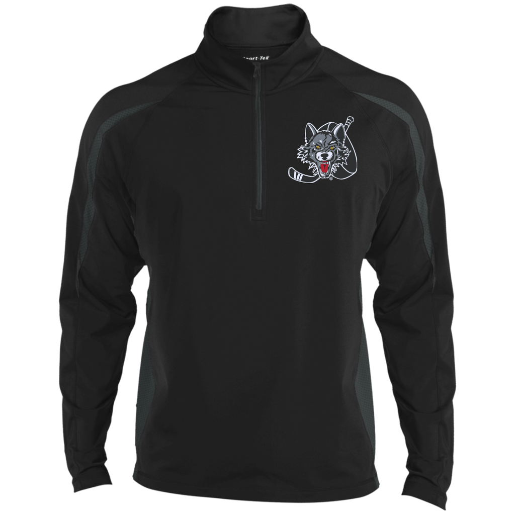 Chicago Wolves Mens Sport Wicking Colorblock Half-Zip