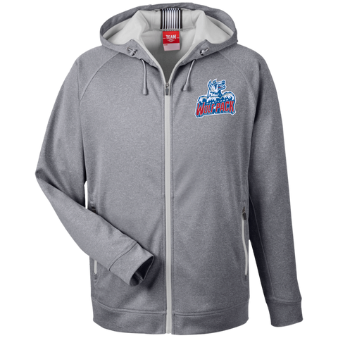 Hartford Wolf Pack Team 365 Men's Heathered Performance Hooded Jacket