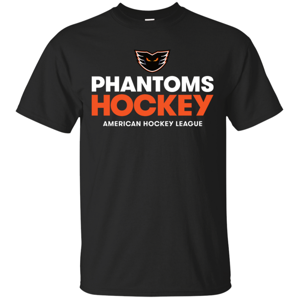Lehigh Valley Phantoms Hockey Adult Short Sleeve Cotton T-Shirt (Black)