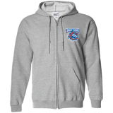 Bridgeport Sound Tigers Adult Embroidered Zip Up Hoodie