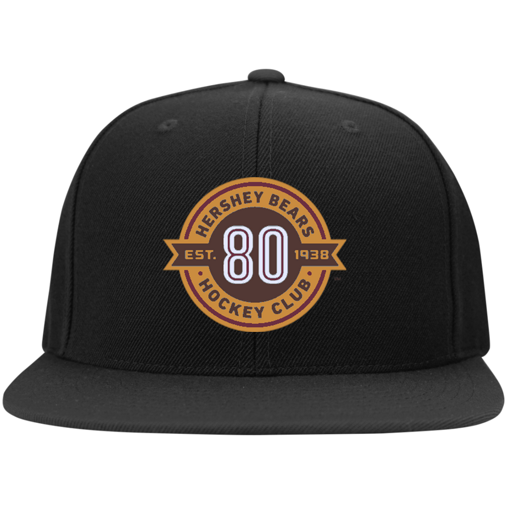 Hershey Bears 80th Anniversary Flat Bill High-Profile Snapback Hat