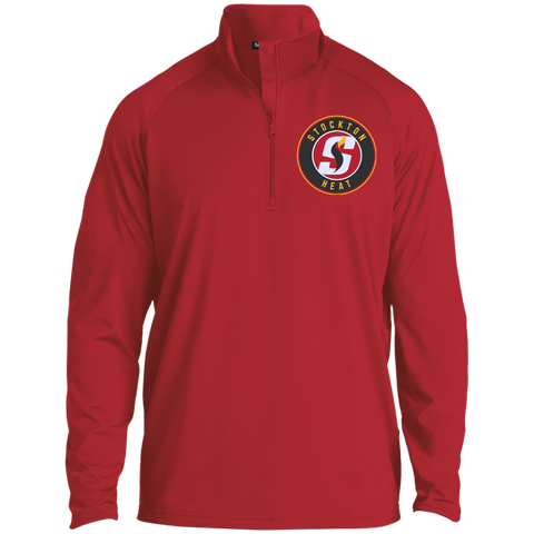Stockton Heat Adult Half Zip Raglan Performance Pullover