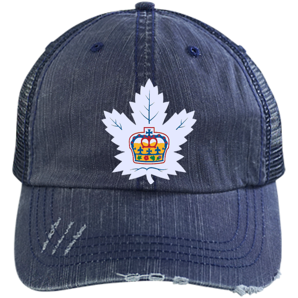 Toronto Marlies Distressed Unstructured Trucker Cap