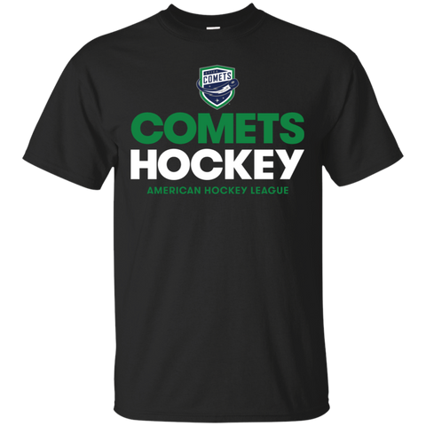 Utica Comets Hockey Adult Short Sleeve Cotton T-Shirt