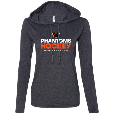 Lehigh Valley Phantoms Hockey Ladies' LS T-Shirt Hoodie (sidewalk sale)