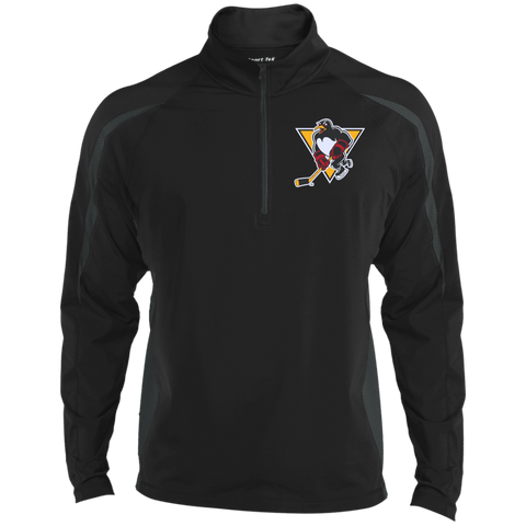 Wilkes-Barre/Scranton Penguins Mens Sport Wicking Colorblock Half-Zip