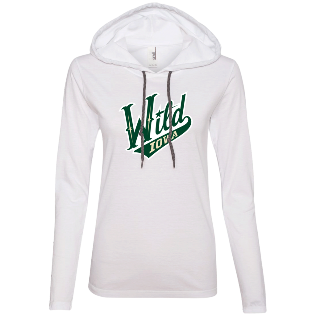 Iowa Wild Ladies Long Sleeve T-Shirt Hoodie (sidewalk sale)