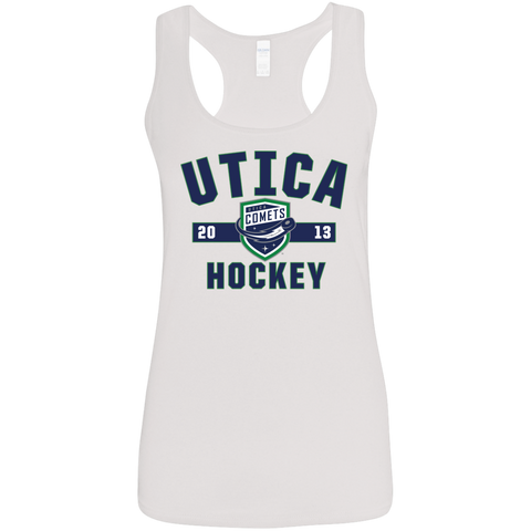 Utica Comets Established Ladies' Softstyle Racerback Tank