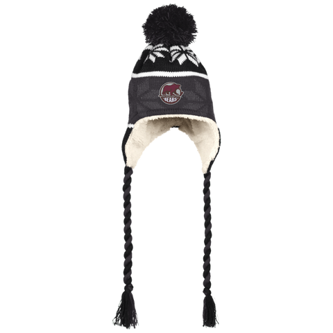 Hershey Bears Winter Hat with Ear Flaps and Braids