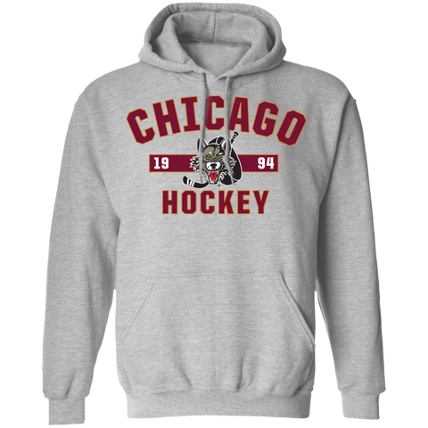 Chicago Wolves Adult Established Pullover Hoodie