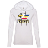 Colorado Eagles Primary Logo Ladies' Long Sleeve T-Shirt Hoodie