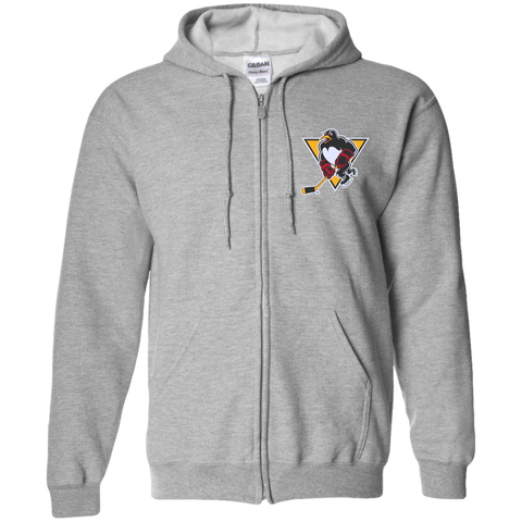 Wilkes-Barre/Scranton Penguins Embroidered Zip Up Hooded Sweatshirt