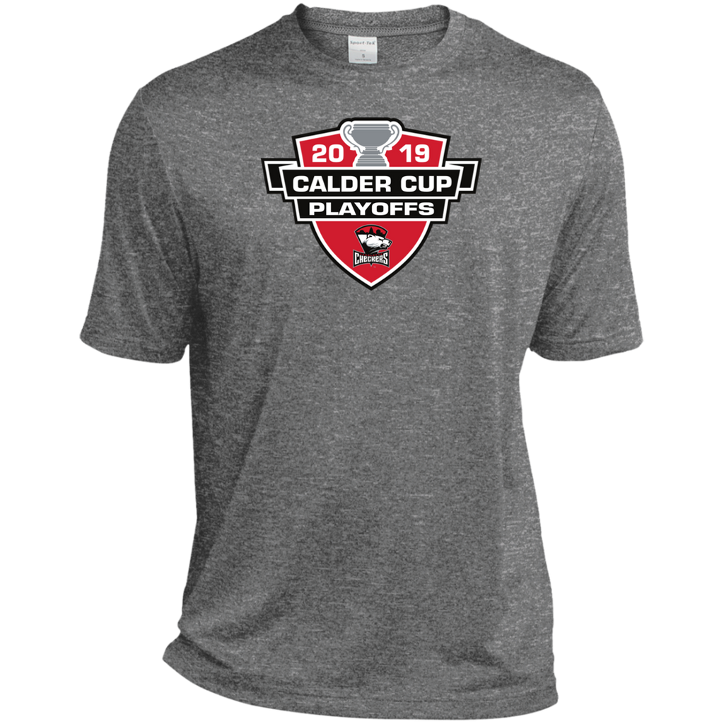 Charlotte Checkers 2019 Calder Cup Playoffs Adult Heather Dri-Fit Moisture-Wicking T-Shirt