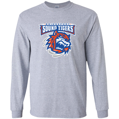 Bridgeport Sound Tigers Primary Logo Youth Long Sleeve T-Shirt