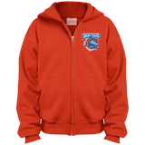 Bridgeport Sound Tigers Youth Embroidered Full Zip Hoodie