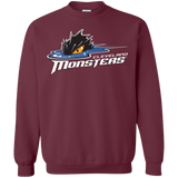 Cleveland Monsters Primary Logo Adult Crewneck Pullover Sweatshirt  8 oz