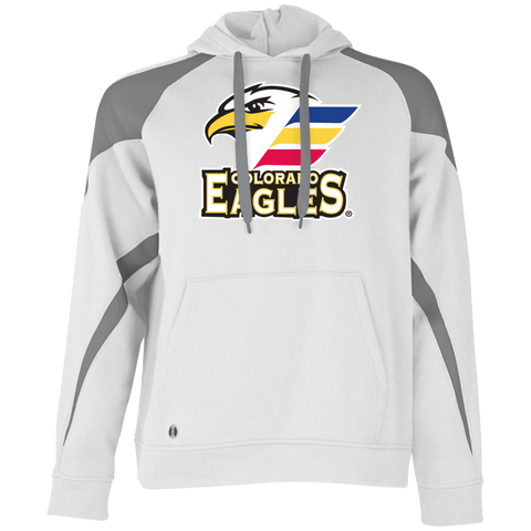 Colorado Eagles Primary Logo Adult Colorblock Hoodie 7543bfa57