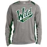 Iowa Wild Adult Long Sleeve Heather Colorblock Poly T-Shirt