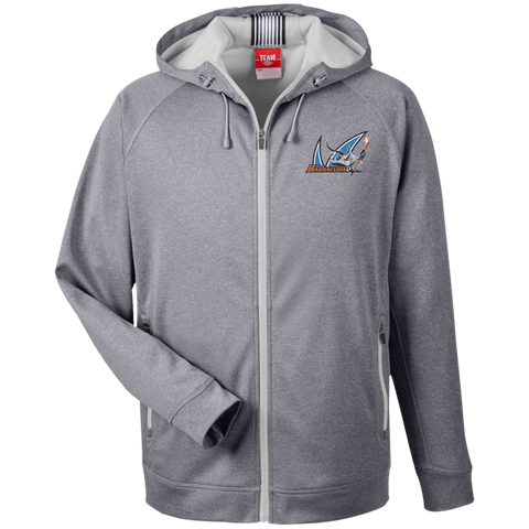 San Jose Barracuda Team 365 Men's Heathered Performance Hooded Jacket