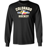 Colorado Eagles Adult Established Long Sleeve Cotton T-Shirt