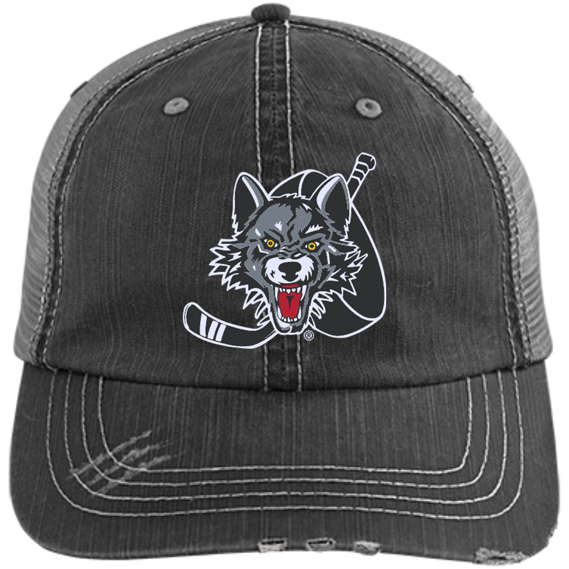 93ab77c30bb Chicago Wolves Distressed Unstructured Trucker Cap – ahlstore.com