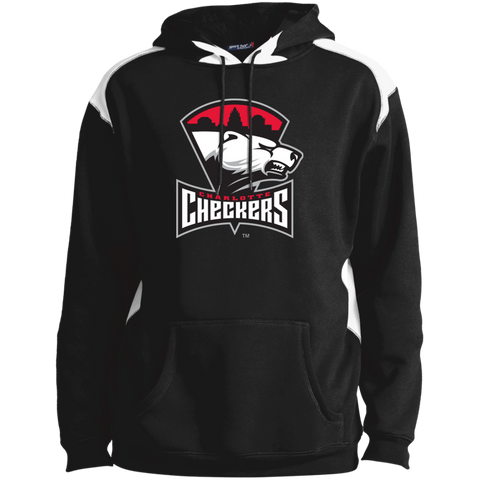 Charlotte Checkers Adult Shoulder Colorblock Pullover Hoodie