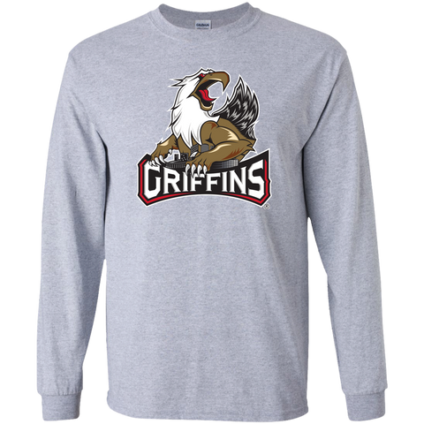 Grand Rapids Griffins Primary Logo Adult Long Sleeve T-Shirt