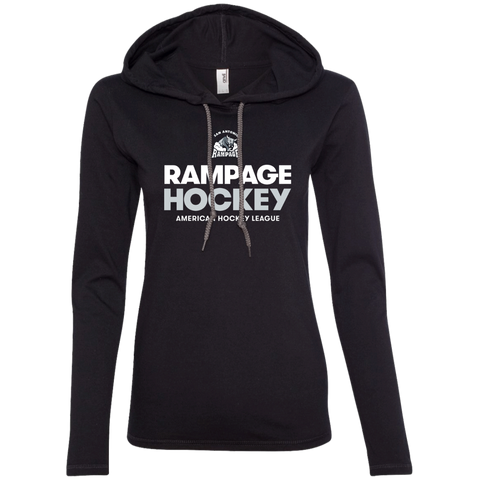 San Antonio Rampage Hockey Ladies' Long Sleeve T-Shirt Hoodie (Sidewalk Sale)