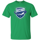 Utica Comets Primary Logo Adult Short Sleeve T-Shirt
