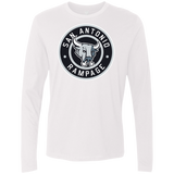 San Antonio Rampage Circle Logo Adult Next Level Men's Premium Long Sleeve Shirt