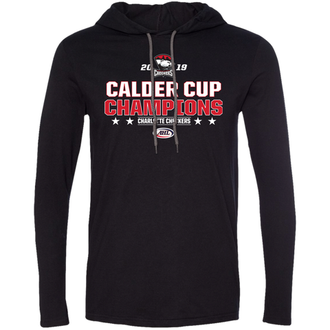 Charlotte Checkers 2019 Calder Cup Champions Long Sleeve Stacked T-Shirt Hoodie
