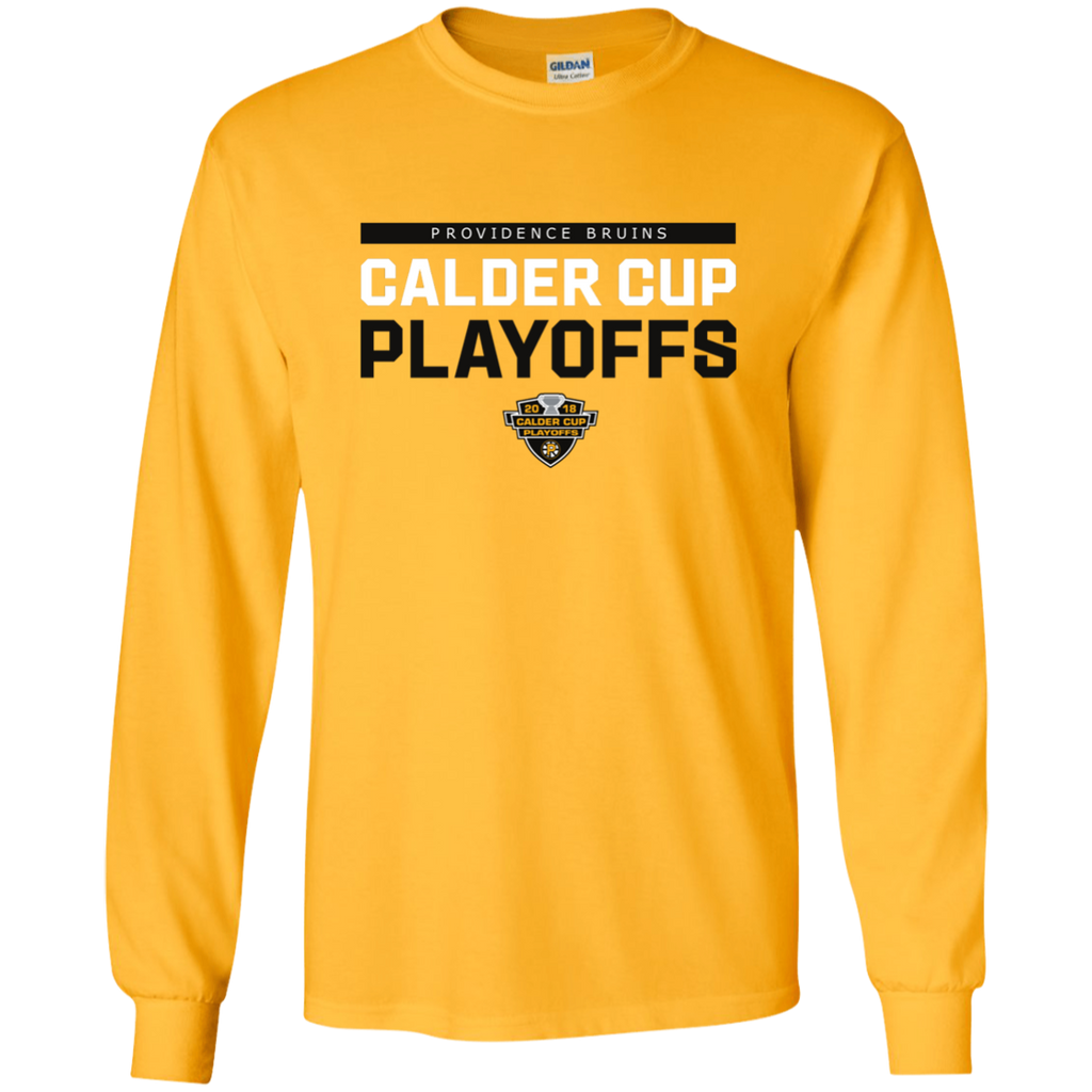 Providence Bruins Adult 2018 Postseason Long Sleeve Cotton T-Shirt