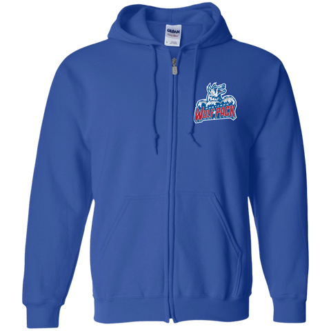 Hartford Wolf Pack Embroidered Zip Up Hooded Sweatshirt