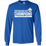 Toronto Marlies 2018 Calder Cup Champions Adult Raise the Bar Long Sleeve Cotton T-Shirt