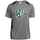 Iowa Wild Adult Heather Colorblock Poly T-Shirt