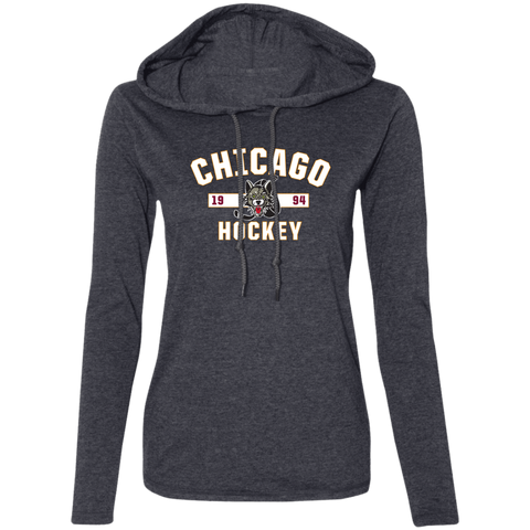 Chicago Wolves Ladies' Established Long Sleeve T-Shirt Hoodie