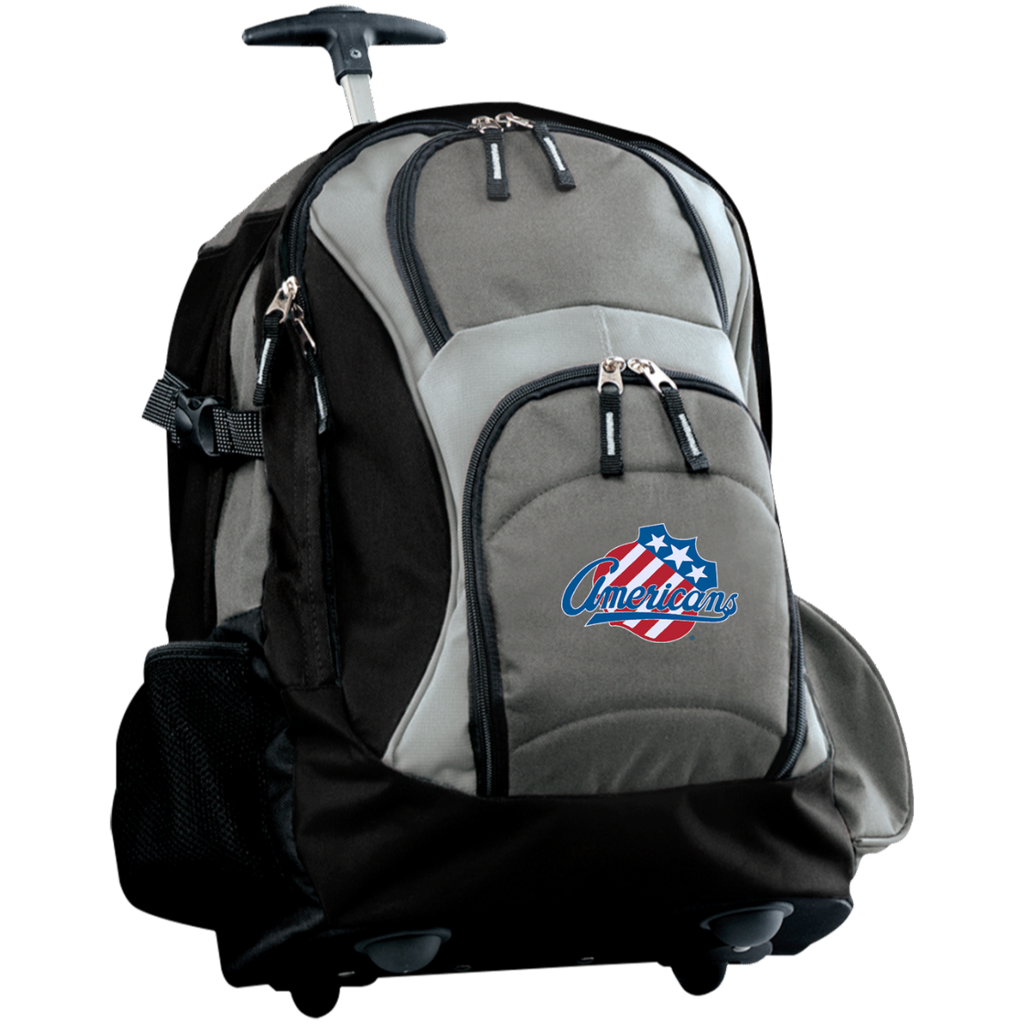 Rochester Americans Embroidered Wheeled Backpack