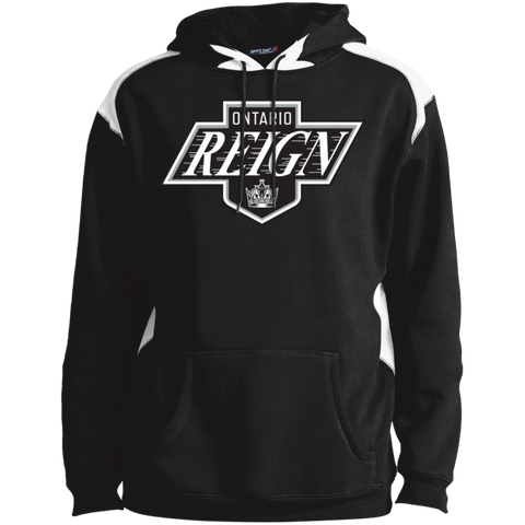 Ontario Reign Adult Printed Shoulder Colorblock Pullover Hoodie
